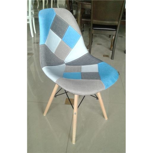 Стул на металлокаркасе Mobil Patchwork Blue MK-4329-BL